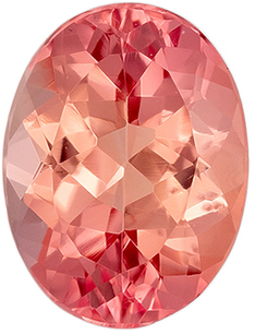 Deal on Rare Genuine Loose Imperial Topaz Gemstone in Oval Cut, 7.9 x 6 mm, Rich Peachy Sherry, 1.42 carats