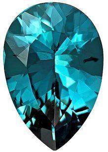Unique Blue Tourmaline Loose Gem, 2.5 carats, Pear Cut, 11.7 x 7.9  mm , Superb Stone - Low Price