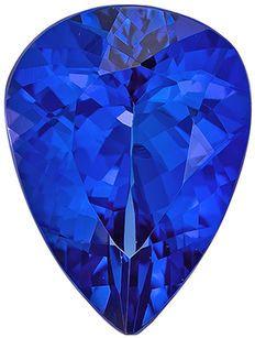 Deal on Genuine Loose Tanzanite Gemstone in Pear Cut, 12 x 9 mm, Rich Blue Purple, 3.84 carats