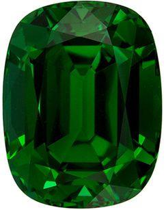 Impressive Genuine Loose Green Tourmaline Gemstone in Cushion Cut, 12.9 x 9.9 mm, Rich Grass Green, 7.54 carats