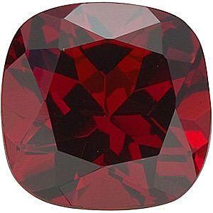 Antique Square Genuine Red Garnet in Grade AAA
