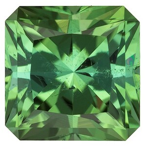 Authentic Green Tourmaline Gemstone, Radiant Cut, 2.24 carats, 7.5 mm , AfricaGems Certified - A Great Buy