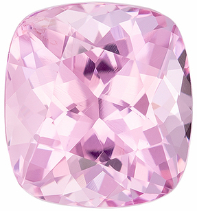 Must See Loose Pink Spinel Gemstone in Cushion Cut, 2.75 carats, Icy Baby Pink, 8.4 x 7.7 mm