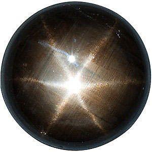 Black Star Sapphire Round Cut Gems  in Grade AAA