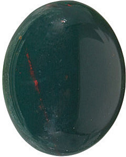 Bloodstone Oval Cabachon in Grade AAA