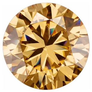 Brown Color Moissanite Round Cut