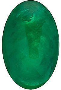 Cabochon Oval Genuine Emerald in Grade AAA