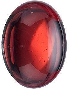 Cabochon Oval Genuine Red Garnet in Grade AAA