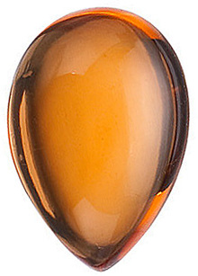 Cabochon Pear Genuine Citrine in Grade AA