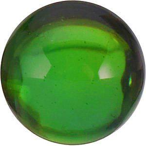 Cabochon Round Genuine Green Tourmaline in Grade AA