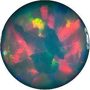 Chatham Lab Black Opal Round Cut in Grade GEM