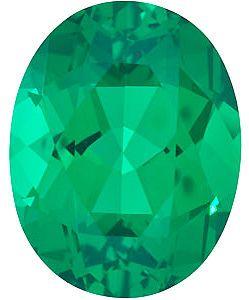 Chatham Lab Emerald Oval Cut in Grade GEM