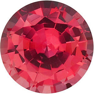 Chatham Lab Padparadscha Sapphire Round Cut in Grade GEM