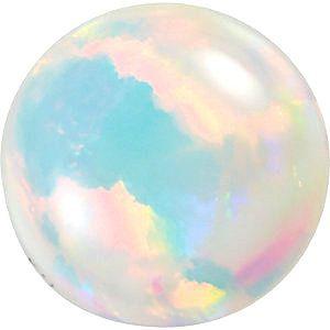 Chatham Lab White Opal Round Cut in Grade GEM