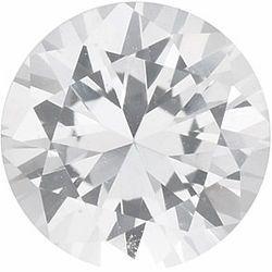 Chatham Lab White Sapphire Round Cut in Grade GEM
