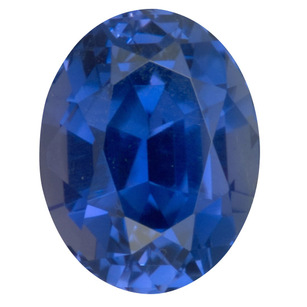 Total Deal on Lux No Heat Blue Sapphire Gemstone in Oval Cut, 2.56 carats, 8.40 x 6.54 mm Displays Rich Blue Color - AGTA Cert
