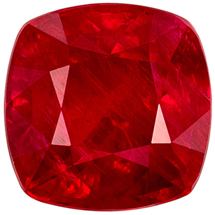 Low Price on  GIA Certified Genuine Loose Ruby Gem in Cushion Cut, 6.9mm, Vivid Pure Red Color, 2.13 carats