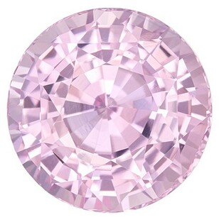 Baby Pink Sapphire Gemstone, 2.32 Carats, Round Shape, 7.39 x 5.13 mm, Stunning Baby Pink Color with GIA Cert