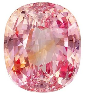 Low Price Padparadscha Sapphire Gemstone, 2.18 Carats, Cushion Shape, 7.86 x 6.71 x 4.62 mm, Stunning Padparadscha Color with GIA Cert
