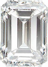 Genuine Emerald Cut Diamonds G-H Color - VS Clarity