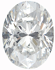 Genuine Oval Diamond - G-H Color VS Clarity