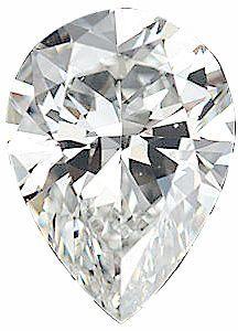 Genuine Pear Diamond - G-H Color  VS Clarity