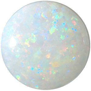 Genuine White Fire Opal Round Cut in Grade AAA