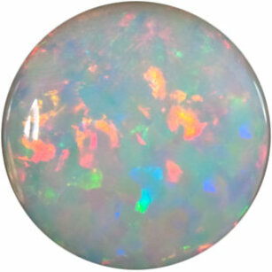 Genuine White Fire Opal Round Cut  in Grade GEM