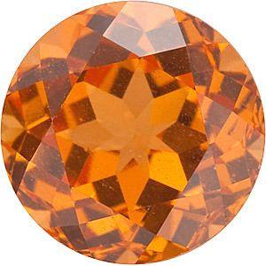 Round Genuine Spessartite Garnet in Grade AAA