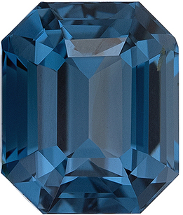 Great Deal Rare Genuine Loose Blue Green Spinel Gem in Emerald Cut, 8.1 x 6.8 mm, Teal Blue Green Color, 2.62 carats