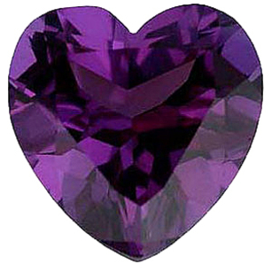 Imitation Alexandrite Heart Cut Stones