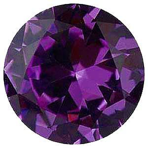 Imitation Alexandrite Round Cut Stones