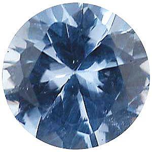Imitation Aquamarine Round Cut Stones
