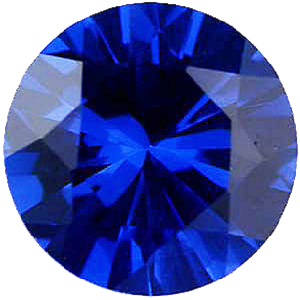 Imitation Blue Sapphire Round Cut Stones