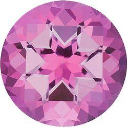 Imitation Pink Tourmaline Round Cut Stones