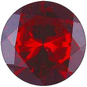 Imitation Red Garnet Round Cut Stones