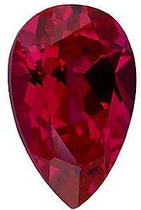 Imitation Ruby Pear Cut Stones