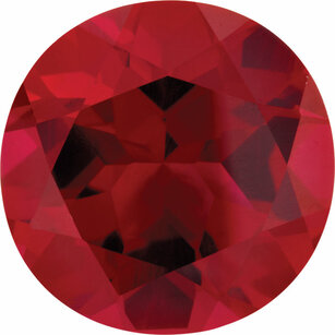 Imitation Ruby Round Cut Stones