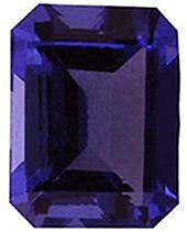 Imitation Tanzanite Emerald Cut Stones