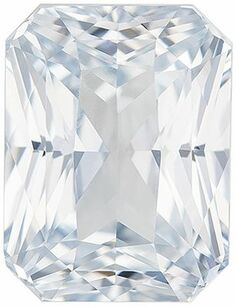 Deal on GIA Genuine Loose White Sapphire Gemstone in Radiant Cut, 6.06 carats, Very Colorless White, 10.98 x 8.32 x 6.31 mm