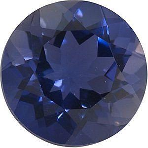 Iolite Genuine Gemstones in Round Cut - Calibrated