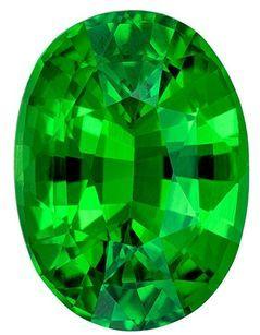 Low Price Tsavorite Green Garnet Gemstone, 1.18 Carats, Oval Shape, 7.4 x 5.5mm, Fine Vivid Green Color