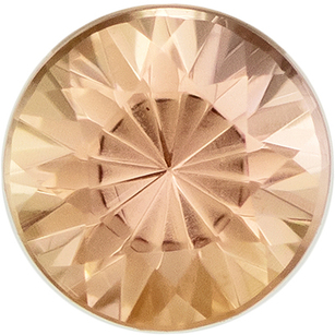 Low Price on  Imperial Topaz Gem in Round Cut, 4 mm in Gorgeous Vivid Peach, 0.28 carats