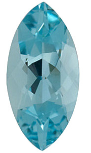 Marquise Cut Genuine Aquamarine in Grade AAA
