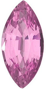 Marquise Cut Genuine Pink Sapphire in Grade AA