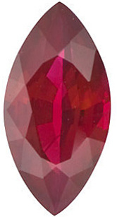 Marquise Cut Genuine Ruby in Grade AAA