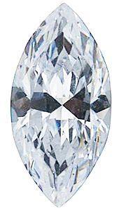 Marquise White Cubic Zirconia Stones