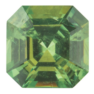 Natural Demantoid Garnet Gemstone in Asscher Cut, 1.21 carats, 6.35 x 6.33 mm Displays Pure Green Color