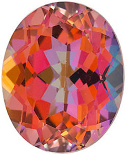Oval Cut Genuine Mystic Sunrise Topaz in Grade AAA