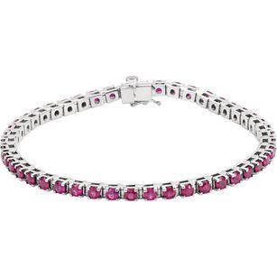 Shop Platinum Ruby Line Bracelet
